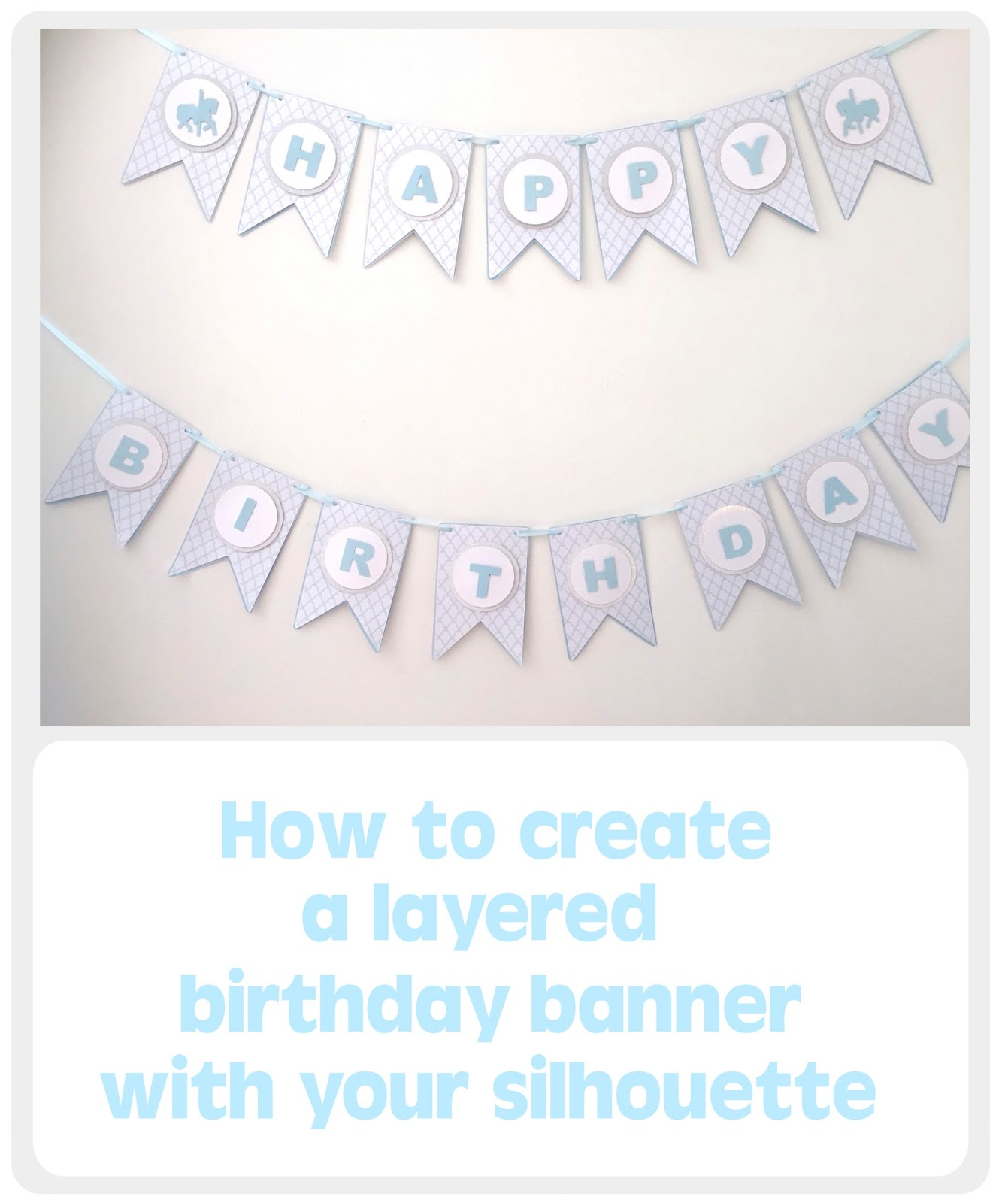 silhouette uk how to create a layered birthday banner