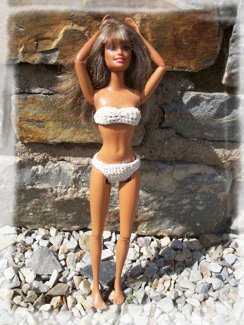 Maillot de bain deux pièces pour poupée mannequins