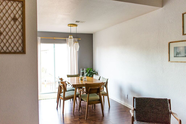 mid century modern dining rooms.  Thrilled To Help My Friend Danielle And Wedding Photographer Finish Off Her Dining Room With Some Big Beautiful Art With Their Mid Century Modern Client Reveal Mid Century Modern Dining Room Michaela Noelle Designs