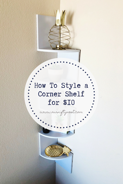 how to style a corner shelf pin