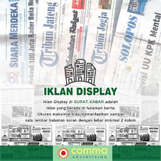 pasang Iklan display koran kedaulatan rakyat