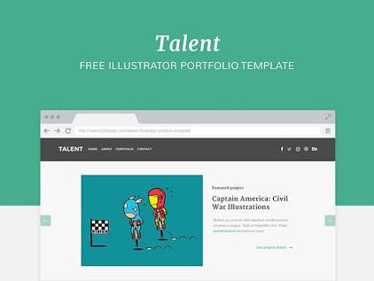 Download Talent Portfolio Template Free