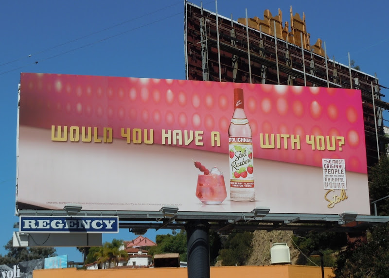 Stoli Razberi Vodka billboard