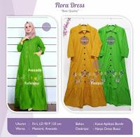 Jual Baju Busana Muslim Flora Dress