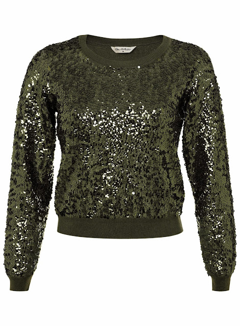 green sequin jumper