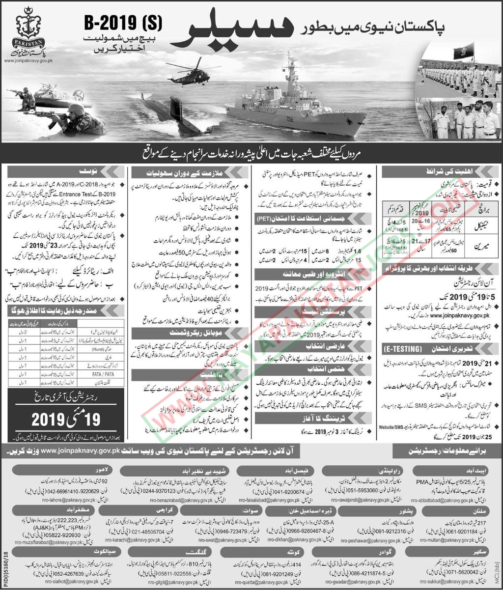 navy jobs, pak navy latest jobs online registration, Pakistan Navy Latest Jobs 2019 May | Join Pakistan Navy As Sailor