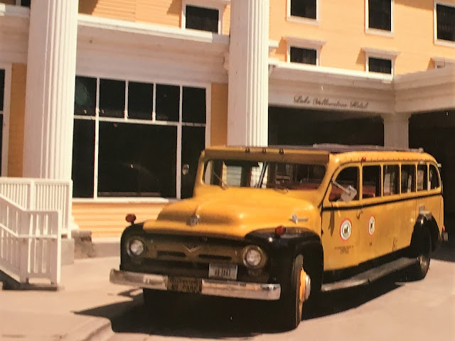 1950s-era Ford Yellowstone National Park bus