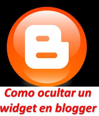 Como ocultar un widget en blogger