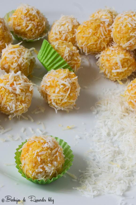 Trufas de coco, zanahorias y naranja: perfectas para satisfacer antojos sin culpa.
