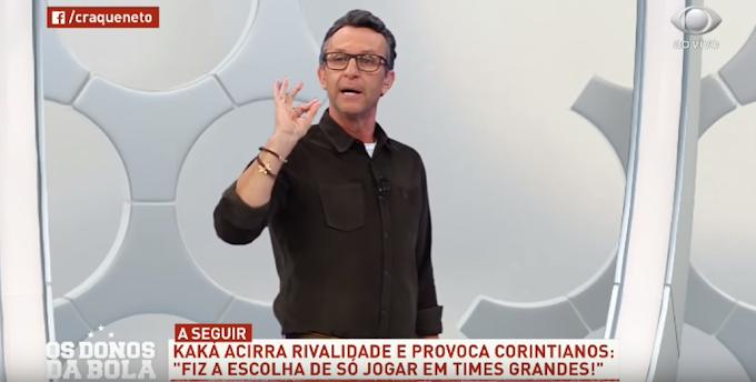 VÍDEO: Após resposta de Vampeta, Neto provoca Kaká e o compara com Romero