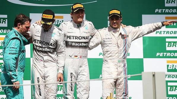 Rosberg e Hamilton, uma dupla recordista, mas ainda rachada
