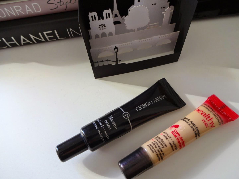 Giorgio Armani Beauty Maestro Eraser, bourjois healthy mix concealer, correttore occhiaie, correttore luminoso