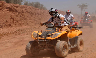 Quad bike in The Red city