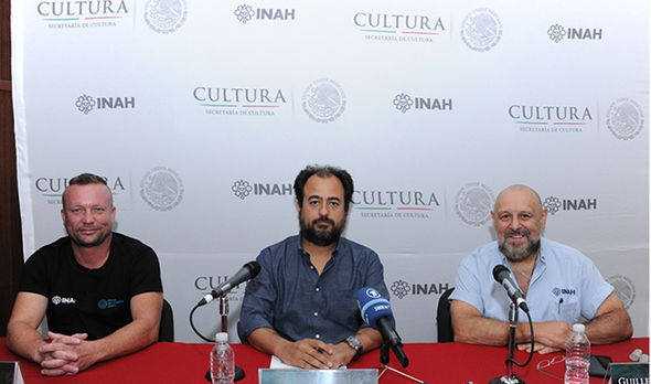 From left to right: Roberto Schmittner, Roberto Junco and Guillermo de Anda