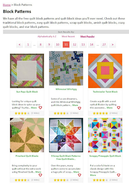 Fave Quilts - a great resource for quilt block patterns