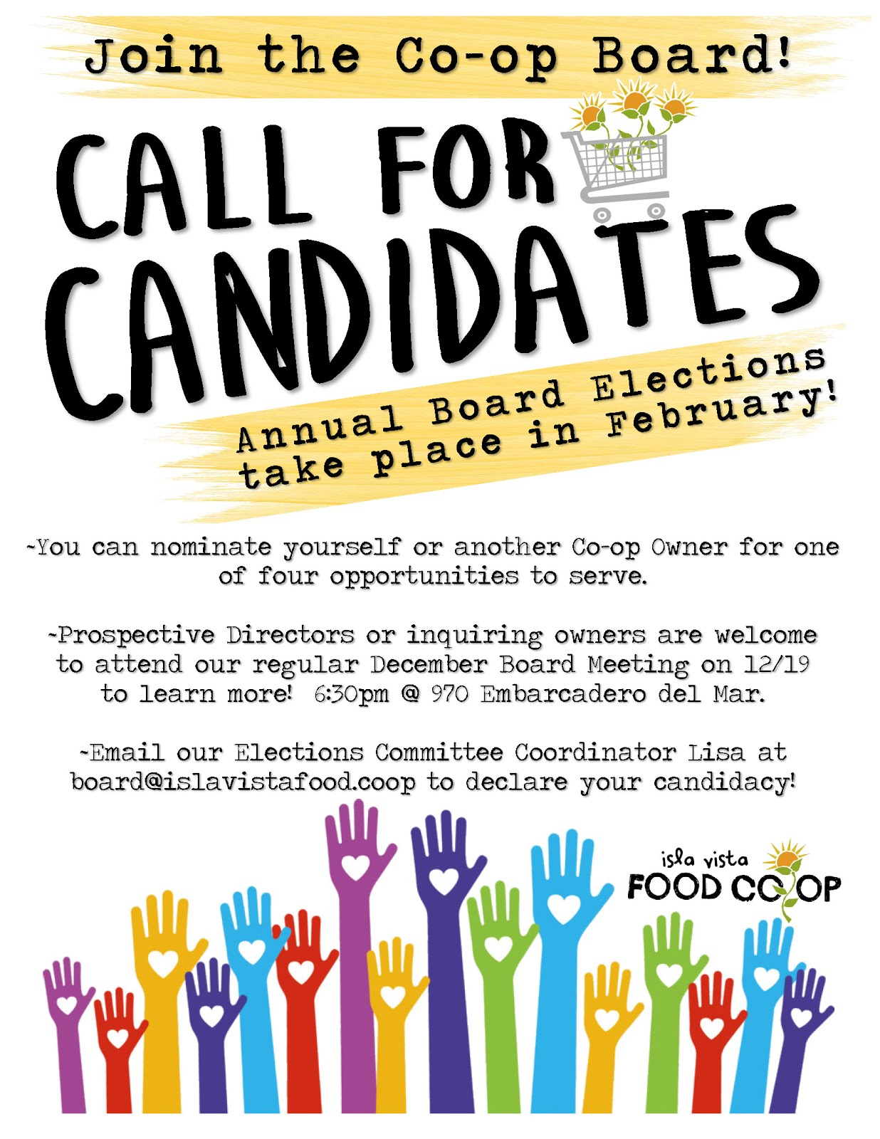 2019 Elections Call for Candidates!