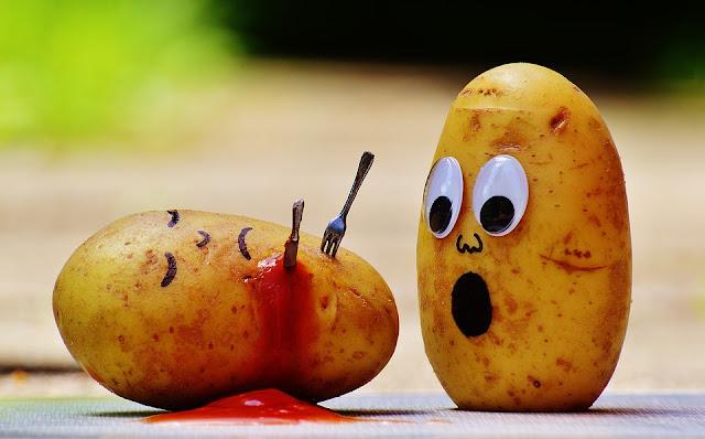 ilustrasi dengan kentang