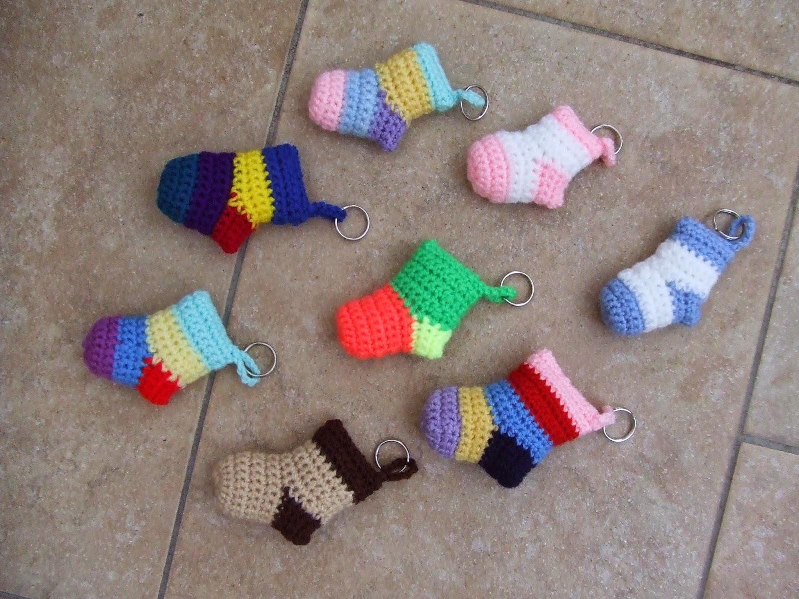 My World Of Crochet Schlüsselanhänger Socken