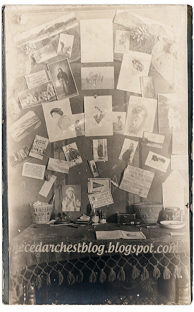 a collection of photos and ephemera from around 1908 - on the cedar chest blog