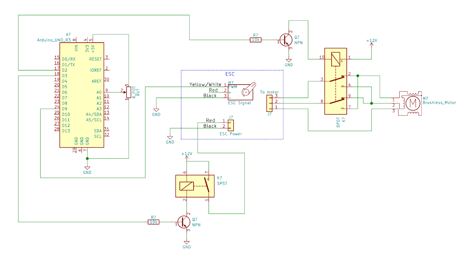 Driving brushless DC motors with Arduino on the cheap using
