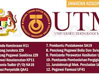 JAWATAN KOSONG TERKINI DI UNIVERSITI TEKNOLOGI MALAYSIA UTM - TETAP & BERPENCEN / PMR HINGGA IJAZAH