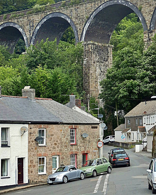 Viaduct and cottages, St.Austell, Cornwall