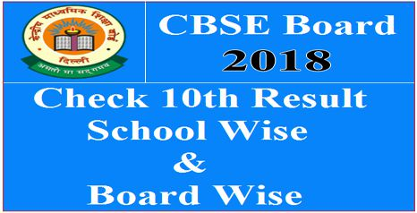Download CBSE 10th Result School Wise 2018 at cbse.nic.in