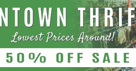 SALE DAYS: 50% OFF STOREWIDE JULY 27TH INTOWN THRIFT