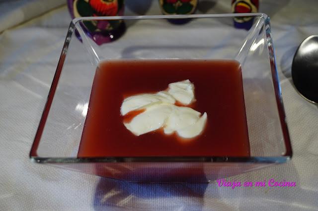 Kisiel (sopa dulce de frutos del bosque)