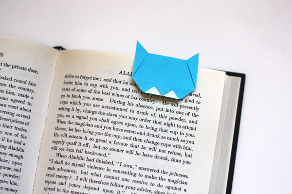 Make An Origami Cat Bookmark How About Orange