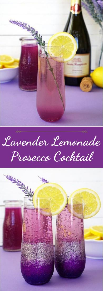 Lavender Lemonade Prosecco Cocktail #healthydrink #easyrecipe