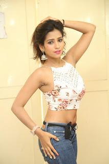 Deekshita Parvathi in a short crop top and Denim Jeans Spicy Pics Beautiful Actress Deekshita Parvathi January 2017 CelebxNext (234).JPG