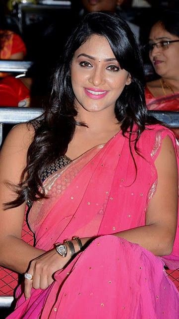 Kesha Khambhati Hot in Pink Saree and designer sleeveless blouse | Actress and Model, Spicy saree photos Navel Queens