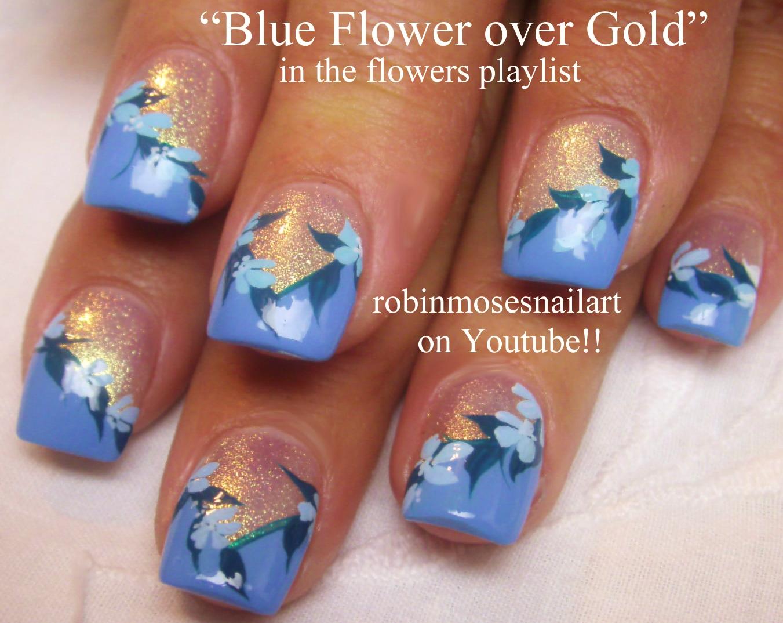 """Robin Moses Nail Art: """"nail art"""" """"blue flower nail art ..."""