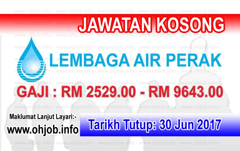 Jawatan Kerja Kosong Lembaga Air Perak - LAP logo www.ohjob.info jun 2017