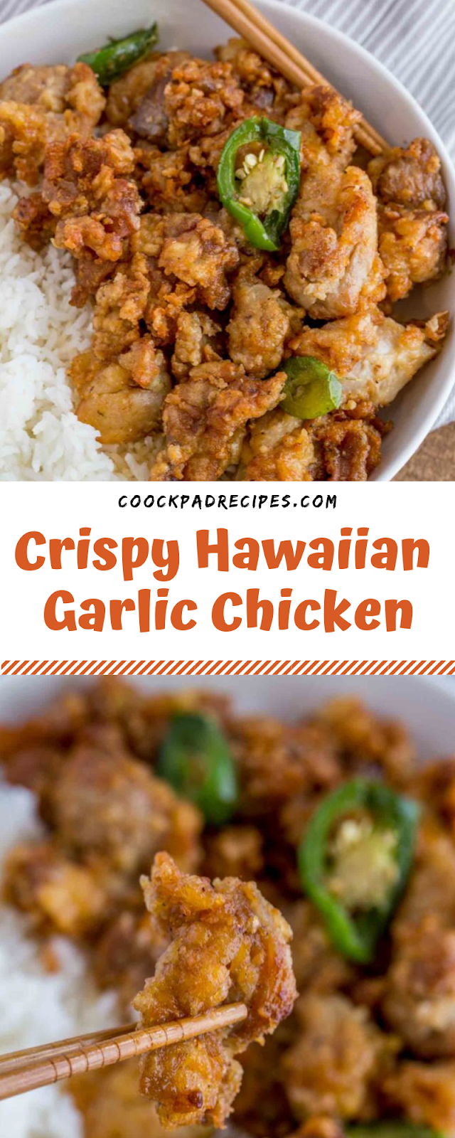 Crispy Hawaiian Garlic Chicken #christmas #dinner