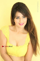 Cute Telugu Actress Shunaya Solanki High Definition Spicy Pos in Yellow Top and Skirt  0181.JPG