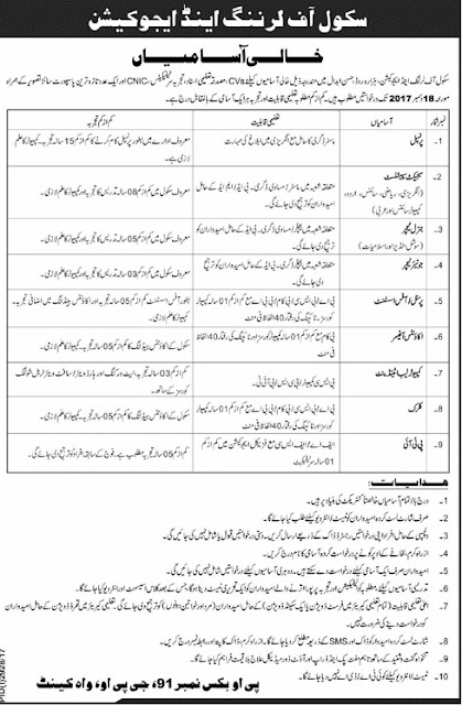 Jobs in School of Learning & Education Hasan Abdal