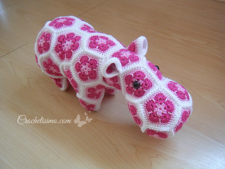 Flor Africana en Crochet (African flower Crochet Patter)