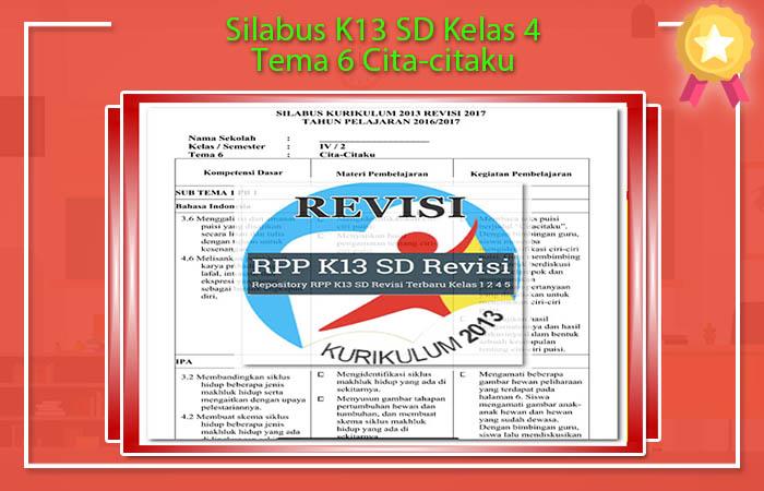 Silabus K13 SD Kelas 4 Tema 6 Cita-citaku