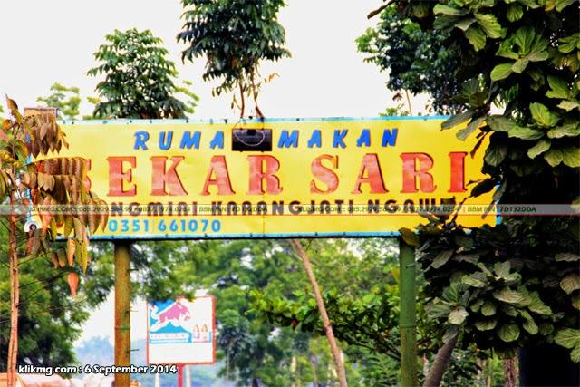 Rumah Makan SEKAR SARI / RM Mekar Sari - Lokasi : Jl. Raya Ngawi Caruban KM.16 Dungmiri, Karang Jati - Ngawi, Jawa Timur | Foto oleh : Klikmg.com Fotografer Ngawi