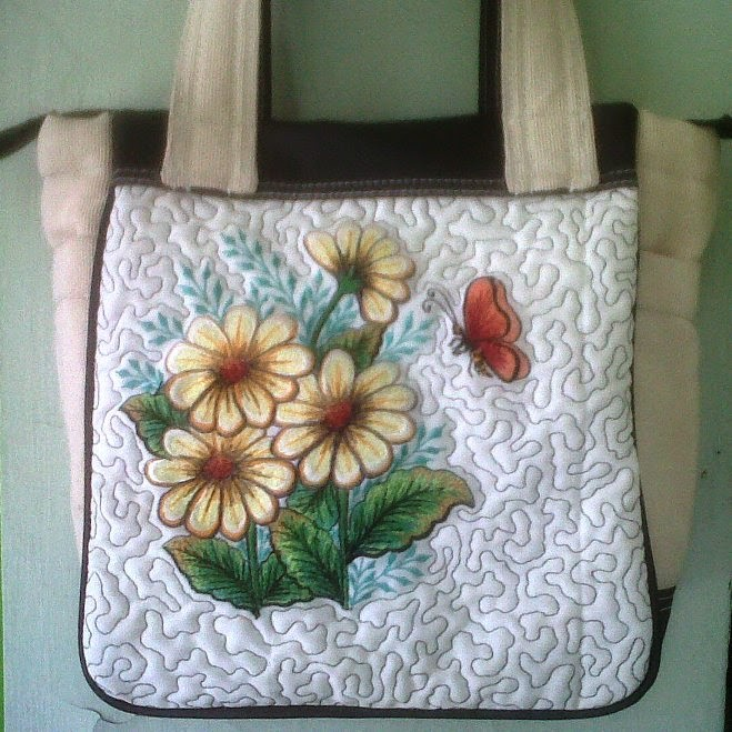 chrysant embroidery bag