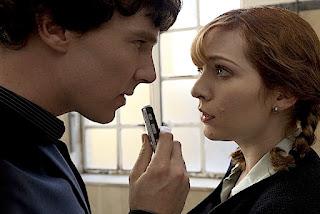 Katherine Parkinson with Benedict Cumberbatch BBC Sherlock