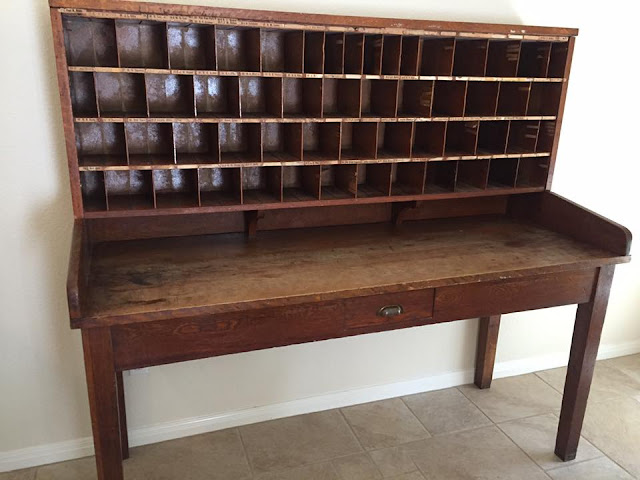 Antique Mail Sorting Table - Spicewood Post Office