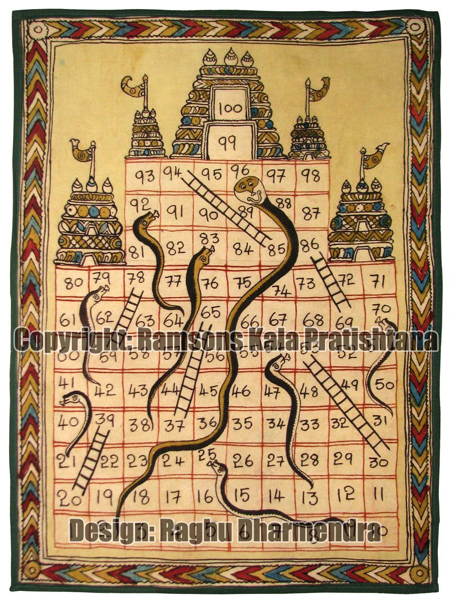 Traditional Board Games of India: Snakes and Ladders ...