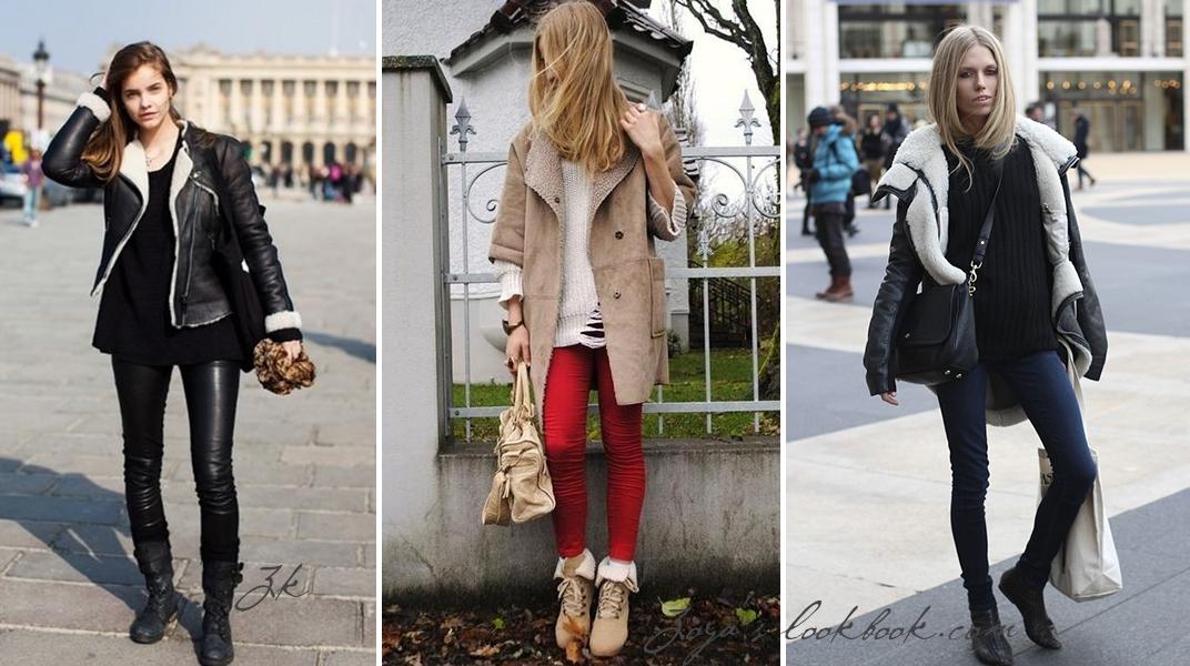 дубленка, обувь, фешн блогер, Сеул, Ю-Корея, леггинцы кожаные, леггенцы с начесом