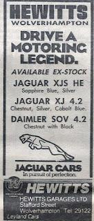 Hewitts Jaguar Wolverhampton 1982