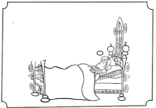 Run Off The Picture Of Solomon Sleeping In Bed On Transparency Film Kids Can Color It With Permanent Markers If You Want Some