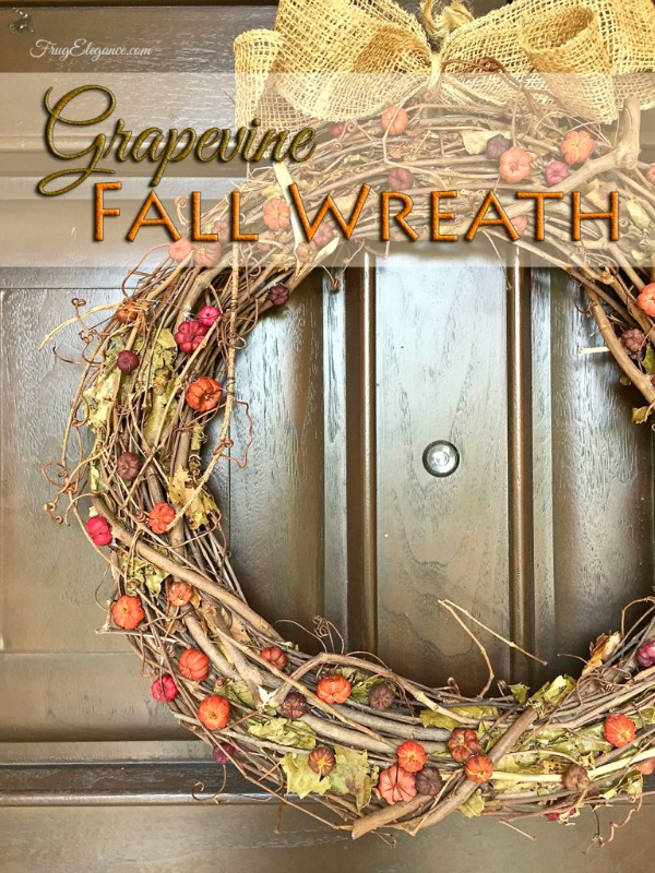 Fall Grapevine Wreath from Frug Elegance