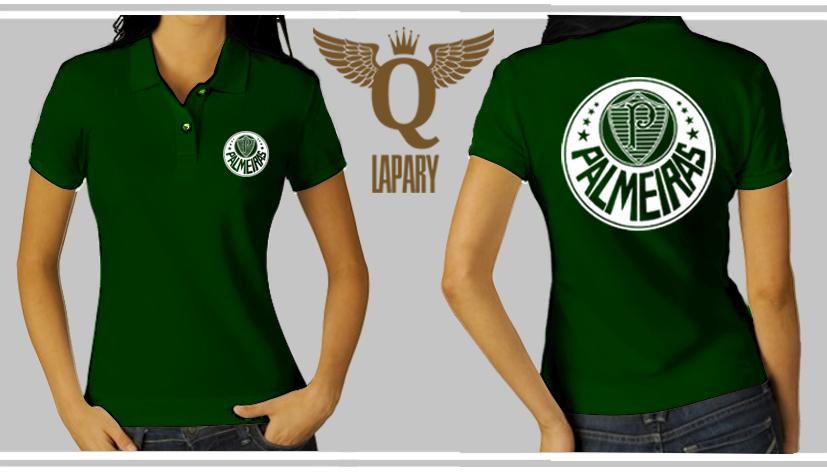 Camisa Verde Pólo Piquet do Palmeiras Feminina e133f44e68e59